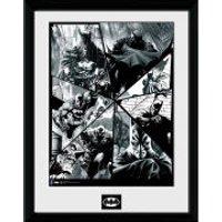DC Comics Batman Comic Collage - Framed Photographic - 16 x 12inch