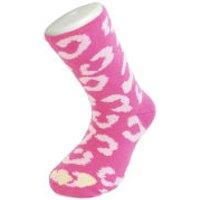 Silly Socks Kids Leopard - Pink - UK Size 1-4