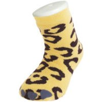 Silly Socks Kids Slipper Socks - Thick Leopard Feet UK 1-4
