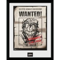 DC Comics Batman Comic Joker Wanted - Framed Photographic - 16 x 12inch - Comics Gifts