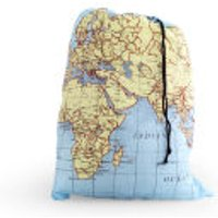 Map Print Travel Laundry Bag