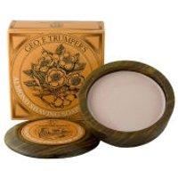 Geo. F. Trumper Almond Oil Hard Shaving Soap Wooden Bowl 80g