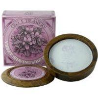 Trumpers Violet Hard Shaving Soap in Wooden Bowl - 80g