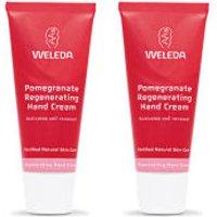 Pack doble de crema de manos regeneradora de granada de Weleda