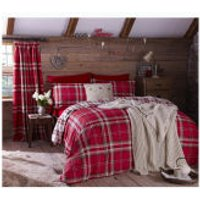 Catherine Lansfield Kelso Bedding Set - Red - Double - Red
