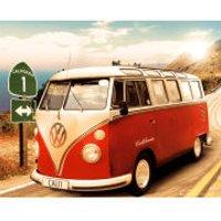 VW Californian Camper Route One - Mini Poster - 40 x 50cm