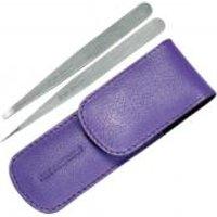 Tweezerman Petite Tweeze Set In Leather Case- Lavender