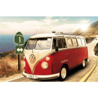VW Californian Camper Route One - Maxi Poster - 61 x 91.5cm