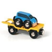 Brio Blue Transporter Car