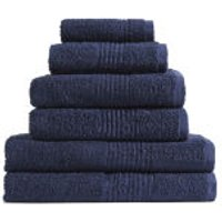 Highams 100% Egyptian Cotton 6 Piece Towel Bale (550gsm) - Navy