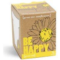 Grow Me Be Happy Sunflower