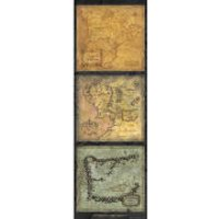 Lord of the Rings Maps of Middle Earth - Door Poster - 53 x 158cm - Maps Gifts