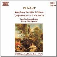 Wolfgang Amadeus Mozart - Symphony No. 40, 31 & 28 (Wordsworth, Capella Istropolitana)