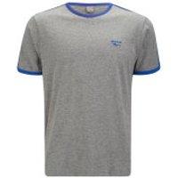 Gola Mens Melrose T-Shirt - Grey Marl/Cobalt Blue - S
