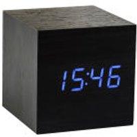 Cube Black Click Clock