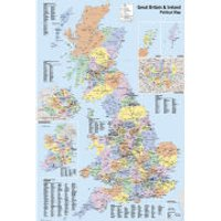 UK Map Political - Maxi Poster - 61 x 91.5cm - Politics Gifts