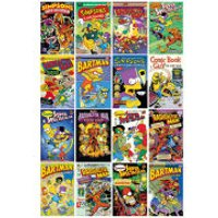 The Simpsons Comic Covers - Maxi Poster - 61 x 91.5cm - The Simpsons Gifts