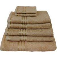 Restmor 100% Egyptian Cotton 7 Piece Supreme Towel Bale Set - Latte (500gsm)
