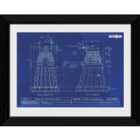 Doctor Who Dalek Blueprint - 30 x 40cm Collector Prints - Doctor Who Gifts