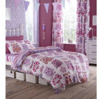 Catherine Lansfield Owl Duvet Set - Single - Multi