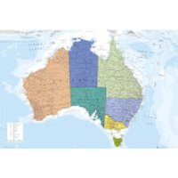 Australia Map - Maxi Poster - 61 x 91.5cm - Australia Gifts