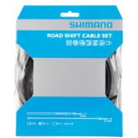 Shimano Road Gear Cable Set With PTFE Coated Inner - One Size - Black