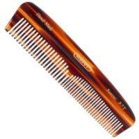 Kent R7T Handmade Tortoiseshell Effect Fine/Coarse Pocket Comb