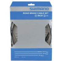 Shimano Road Brake Cable Set With PTFE Coated Inner - One Size - Black