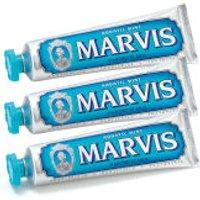 Marvis Aquatic Mint Toothpaste Triple Pack (3 x 75ml)