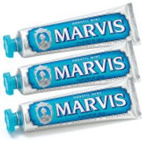Marvis Aquatic Mint Toothpaste Bundle (3x85ml)