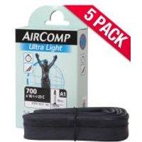 Michelin Aircomp Road Long Valve Inner Tube - Pack of 5