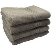Restmor 100% Egyptian Cotton 4 Pack Bath Sheets (500gsm) - Charcoal