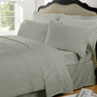 Highams 100% Egyptian Cotton Plain Dyed Bedding Set - Silver Grey [China Sizing Only] - Small/150x200cm - Grau