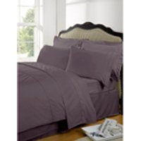 Highams 100% Egyptian Cotton Plain Dyed Bedding Set - Vintage Mauve [China Sizing Only] - Small/150x200cm - Violet
