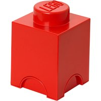 Lego 1 Stud Brick Container - One Size - Red
