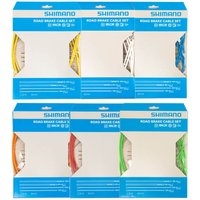 Shimano Road Brake Cable Set With PTFE Coated Inner - One Size - Blue