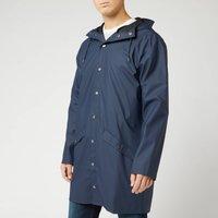 RAINS Men's Long Jacket - Blue - XS/S