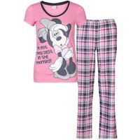 Minnie Mouse Women's Checked Pyjama Set - Pink - 18-20 - Pink - Seek Gifts