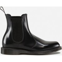 Dr. Martens Women's Flora Polished Smooth Leather Chelsea Boots - Black - UK 8