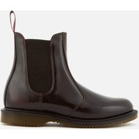 Dr. Martens Women's Flora Arcadia Leather Leather Chelsea Boots - Cherry Red - UK 8