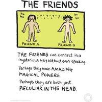 Edward Monkton Fine Art Print - Friends - Friends Gifts