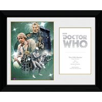 Doctor Who 5th Doctor Peter Davison - 30 x 40cm Collector Prints - Doctor Who Gifts