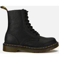 Dr. Martens Women's 1460 Pascal Virginia Leather 8-Eye Boots - Black - UK 6 - Black