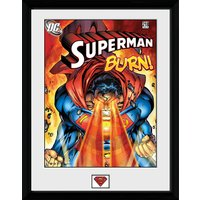 DC Comics Superman Burn - 16x12 Framed Photographic - Superman Gifts