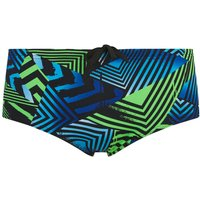 Zoggs Men's Optic Sport Swim Briefs - Black/Green/Blue - W28 - Black/Green/Blue
