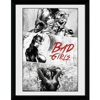 DC Comics Batman Comic Badgirls - Framed Photographic - 16 x 12inch - Batman Gifts