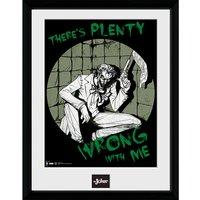 DC Comics Batman Comic Joker Plenty Wrong - Framed Photographic - 16 x 12inch - Batman Gifts
