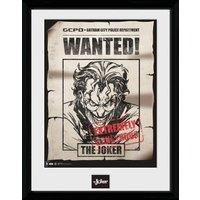 DC Comics Batman Comic Joker Wanted - Framed Photographic - 16 x 12inch - Comics Gifts