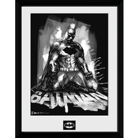 DC Comics Batman Comic Paint - Framed Photographic - 16 x 12inch - Batman Gifts