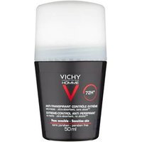 VICHY Homme Mens Deodorant Extreme-Control Anti-Perspirant Roll-On Sensitive Skin 50ml